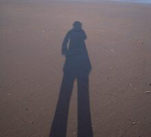 Beach silhouette by Patricia Rogers