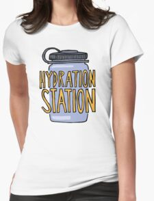 Hydration Station Womens Fitted T-Shirt