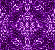 Purple Mind Warp Diffraction Pattern by KirstenStar