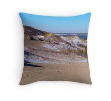 Montauk Walking Dunes Throw Pillow