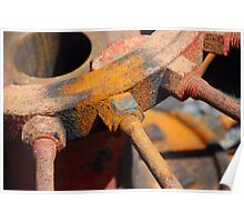 Rustable's: Hub and Spokes Tractor Wheel Poster