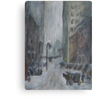 re: henri- snow in new york Canvas Print