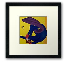 Spatula Observing Foot Attachment Framed Print