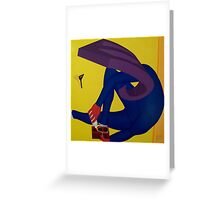 Spatula Observing Foot Attachment Greeting Card