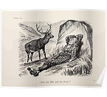 Cartoons by Sir John Tenniel selected from the pages of Punch 1901 0132 Over the Hills and Far Away Poster