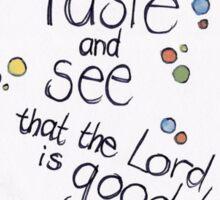 Psalm 34: Taste & see! Sticker