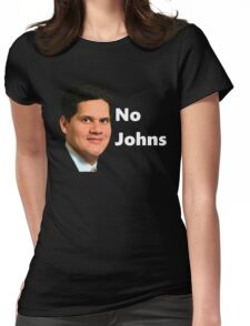 Reggie - No Johns Womens Fitted T-Shirt