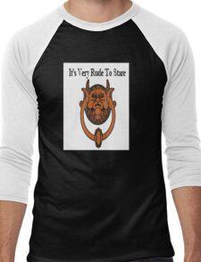 Its Very Rude To Stare Men's Baseball ¾ T-Shirt