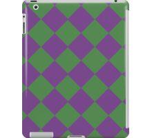 Wimbledon checkers (Green & Purple) iPad Case/Skin