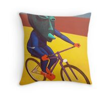 Relic Fleeing from Authorities Shortly Before Completing Autoanimation Process Throw Pillow