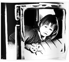 Young Girl in a Car Poster