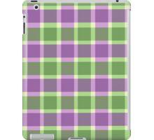Wimbledon plaid (Green & Purple) iPad Case/Skin