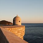 lookout on the wall in dubrovnik by jwsparkes