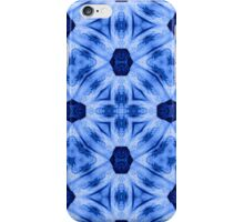 Blue modern abstract decorative pattern iPhone Case/Skin