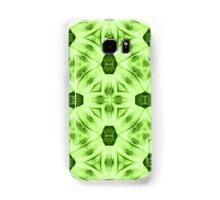 Green abstract modern trendy cool pattern Samsung Galaxy Case/Skin