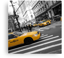 One Way - New York Cabs Canvas Print