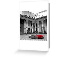 Lonely Scarlet Greeting Card