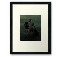 Carrying Two Hearts Framed Print