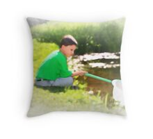 Catching Frogs Throw Pillow