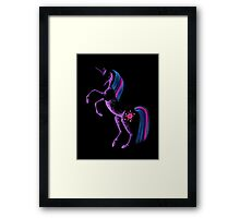 MLP Twilight Sparkle Minimal Abstract Drawing Framed Print