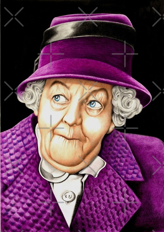 margaret rutherford plays miss jane marple greeting. Black Bedroom Furniture Sets. Home Design Ideas