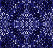 Blue Mind Warp Diffraction Pattern by KirstenStar
