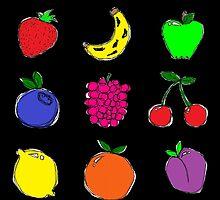 Fruits #2! by mydirigibleplum