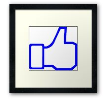 Like Symbol Framed Print