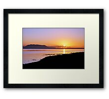 Sunset at Inch, Co. Kerry, Ireland Framed Print