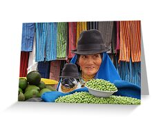 OTAVALO LADIES - ECUADOR Greeting Card