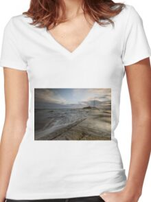 St. Mary's Lighthouse Women's Fitted V-Neck T-Shirt