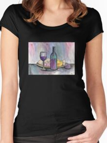 Scene From An Italian Restaurant Women's Fitted Scoop T-Shirt