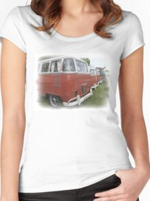 Back end of the Van Women's Fitted Scoop T-Shirt