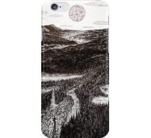 Hiking by the Moon iPhone Case/Skin