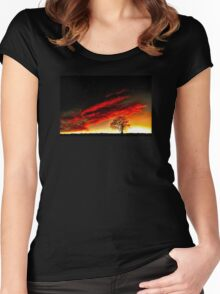 'Nature-Reflect' Women's Fitted Scoop T-Shirt