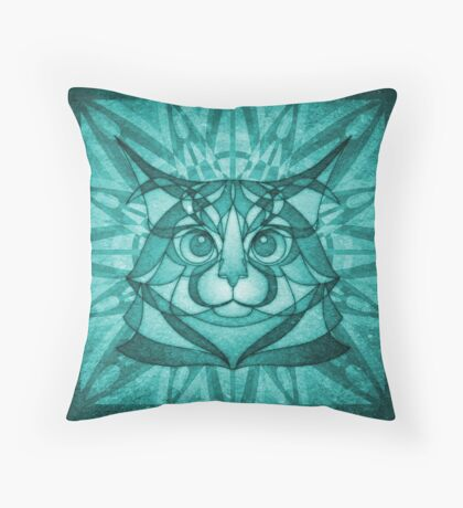 The Forest Maine Coon Throw Pillow