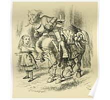 Through the Looking Glass Lewis Carroll art John Tenniel 1872 0186 The Knight Poster