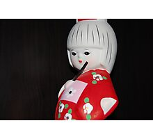Geisha Figurine Photographic Print