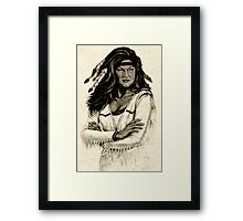 Daughter Of Grey Wolf Framed Print