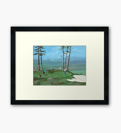 Golfers Framed Print