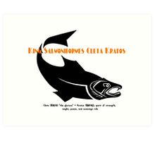 KING SALMON Art Print