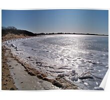 Glistening Ice of Napeague Bay  Poster