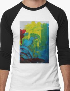 Abstract 07 Men's Baseball ¾ T-Shirt