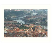 Where the river bends  Art Print