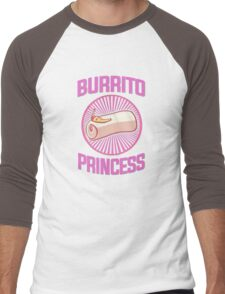 Burrito Princess Men's Baseball ¾ T-Shirt