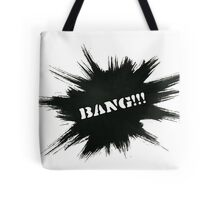 Black Painted Explosion with Bang Word Tote Bag
