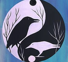 The Tao of Crow by JeanneFryArt