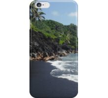 Wainapanapa Black Sand Beach iPhone Case/Skin