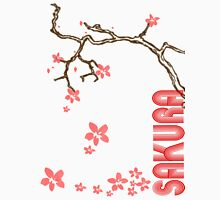 Sakura Tree Womens Fitted T-Shirt