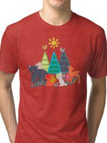 summer woodland Tri-blend T-Shirt